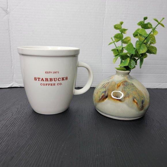 Starbucks 18oz 2007 Ceramic Holiday Mug